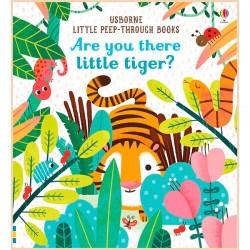Детская книга с тактильными ощущениями Usborne Are You There Little Tiger?