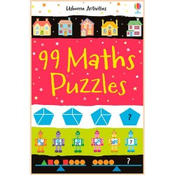 Детская книга Usborne 99 Maths Puzzles (Activity and Puzzle Books)