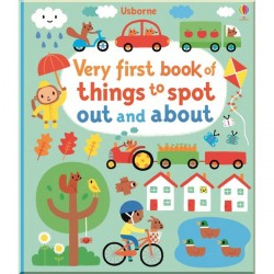Детская книга Usborne Very First Book of Things to Spot: Out and About