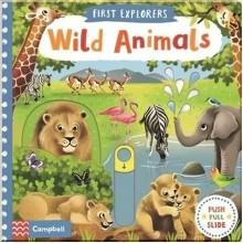 Детская книга с движущимися элементами First Explorers: Wild Animals
