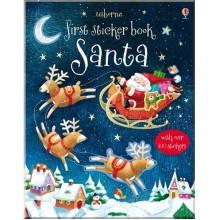Детская книга с наклейками First Sticker Book: Santa