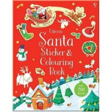 Usborne Santa Sticker and Colouring Book