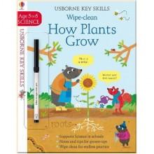 Детская книга с маркером Wipe-Clean How Plants Grow