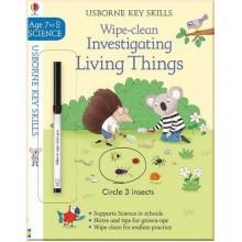 Детская книга с маркером Wipe-Clean Investigating Living Things